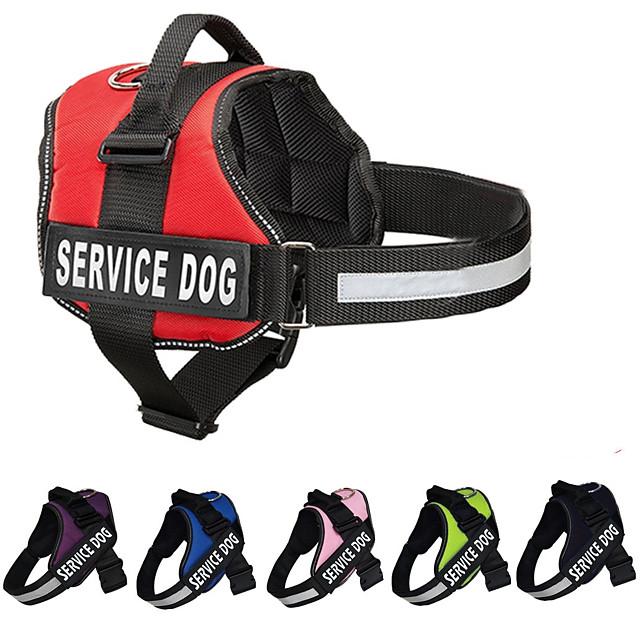 كلاب أربطة شرائط عاكسة مقاومة الهزة سترة المشي ألوان متناوبة نايلون كلب متوسط كلب كبير كلب الخدمة أسود أحمر 1PC