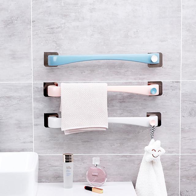 baie lipicios atârnat prosoape suport rotat o singură tijă gratuit pumn prosoape de baie rack prosop prosoape bar cârpă rack