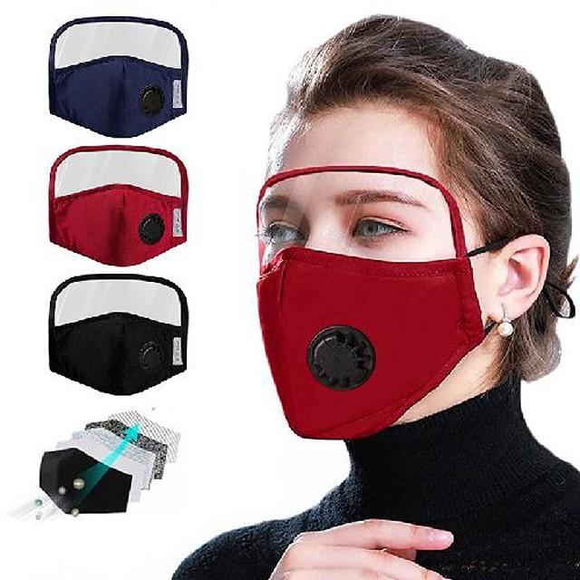 Respirable Pur coton Anti-poussière Rose rouge Noir Rose Claire Rouge Bordeaux Vert Claire
