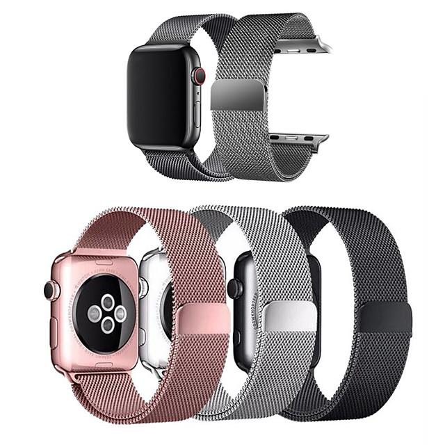 ремешок для часов Apple Watch Series 6 / SE / 5/4 44 мм / Apple Watch Series 6 / SE / 5/4 40 мм / Apple Watch Series 3/2/1 38-миллиметровый ремешок из нержавеющей стали с петлей Apple Milanese для запястья (1 шт.)