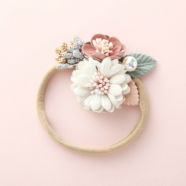 1pcs Infant Girls' Active / Sweet Sun Flower Floral Flower Nylon Hair Accessories White / Blushing Pink / Dusty Rose One-Size