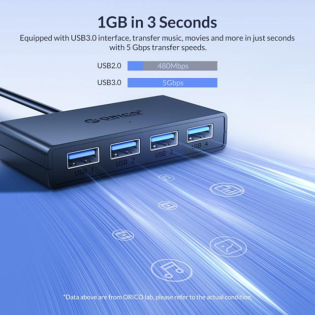 ORICO USB 3.0 la USB 3.0 Mufa USB 4 porturi Pentru Windows, PC, laptop
