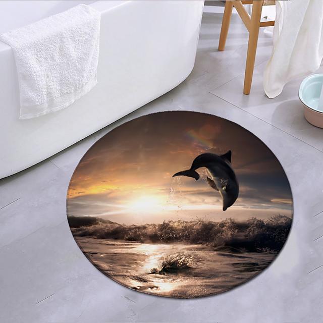 delfinek ugranak a naplementében kerek szőnyeg ajtó szőnyeg hálószoba nappali szőnyeg dolgozószoba szőnyeg konyha fürdőszoba csúszásgátló