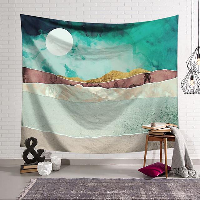 wandtapijten art decor deken gordijn opknoping thuis slaapkamer woonkamer decoratie polyester abstract bergen zonsopgang zonsondergang olieverf patroon