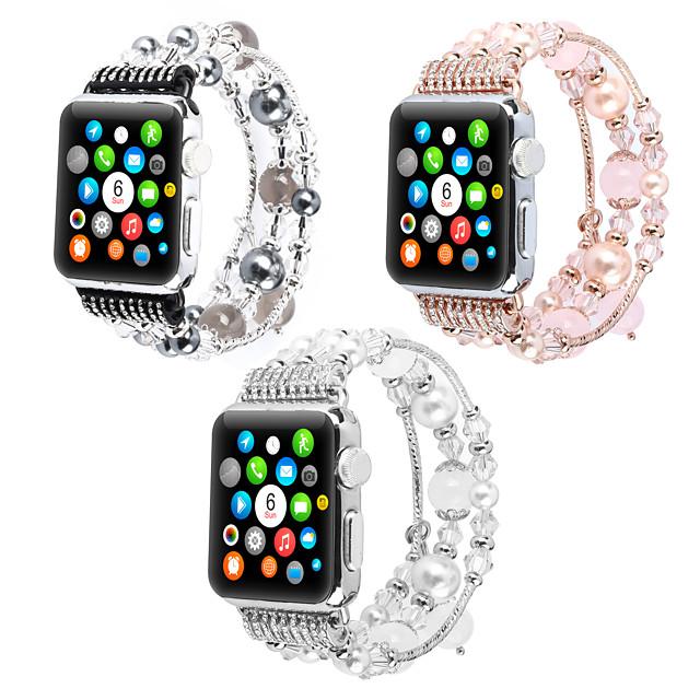 Cinturino intelligente per Apple  iWatch 1 pcs Stile dei gioielli PC Sostituzione Custodia con cinturino a strappo per Apple Watch Serie 6 / SE / 5/4 44 mm Apple Watch Serie 6 / SE / 5/4 40mm Apple