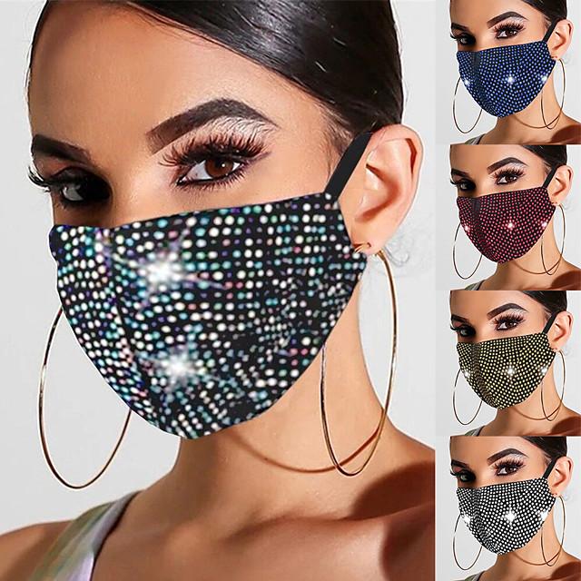 2 pièces masques pour femmes printemps et été nouveaux masques de bijoux en strass diamant chaud masques quotidiens