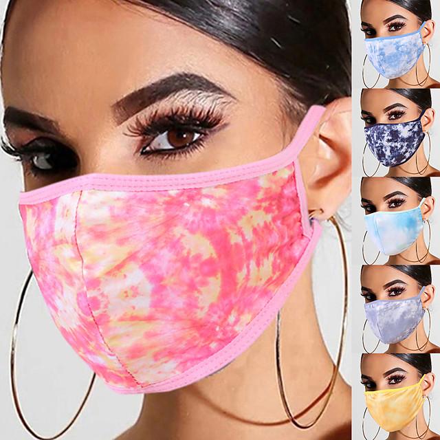 5 masques respirants tie-dye masques lavables masques de la vie quotidienne unisexe