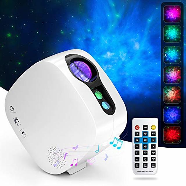 proiettore di luce laser stellato proiettore lampada da proiezione colorata nebulosa luna con lettore musicale bluetooth telecomando senza fili
