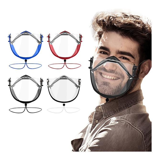 2 pièces nouveau masque transparent complet pour le masque sourd-muet HD anti-buée masque transparent masque de langage des lèvres réglable