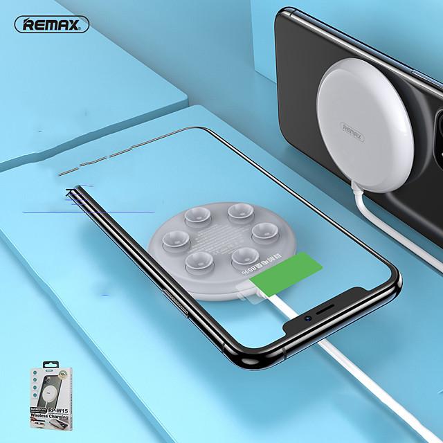Remax 10 W Potenza di uscita Caricatore senza fili Caricatore senza fili Zero Per Cellulare Apple iPhone 12 11 pro SE X XS XR 8 Samsung Glaxy S21 Ultra S20 Plus S10 Note20 10 Airpods 1/2 / Pro