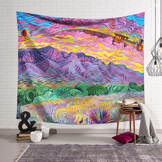 wandtapijten kunst decor deken gordijn opknoping thuis slaapkamer woonkamer decoratie polyester hippie bergen psychedelische abstract