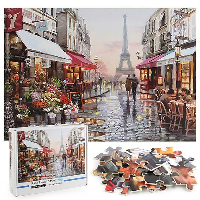 1000 pcs Eiffeltoren Legpuzzel Decompressie Speelgoed Ouder-kind interactie Kraftpapier Parijs Tiener Volwassenen Speeltjes Geschenk