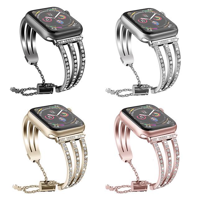 Cinturino intelligente per Apple  iWatch 1 pcs Stile dei gioielli Acciaio inossidabile Sostituzione Custodia con cinturino a strappo per Apple Watch Serie 6 / SE / 5/4 44 mm Apple Watch Serie 6 / SE
