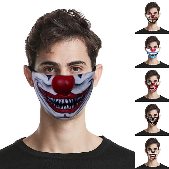 5 maschere esagerate per la stampa delle labbra maschere unisex lavabili all'aperto maschere traspiranti antipolvere alla moda