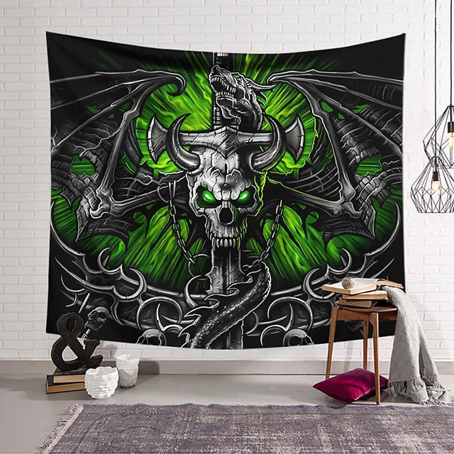 wandtapijt art decor deken gordijn opknoping thuis slaapkamer woonkamer decoratie polyester vezels skelet zwaard dragon lanting ontwerp