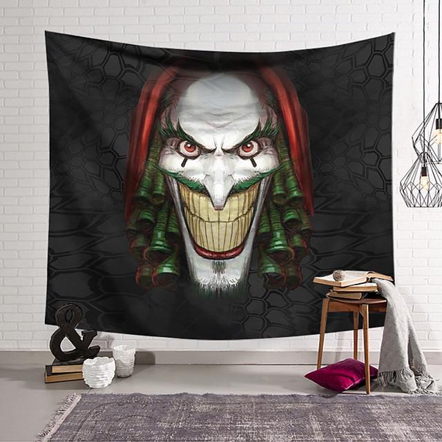 tapisserie murale art décor couverture rideau suspendu maison chambre salon décoration polyester fibre nature morte étrange couleur bizarre vert cheveux bouclés
