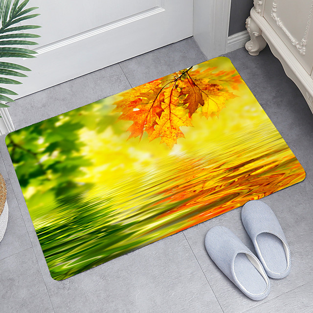 golfde wateroppervlak digitaal printen vloermat moderne badmatten niet-geweven traagschuim nieuwigheid badkamer