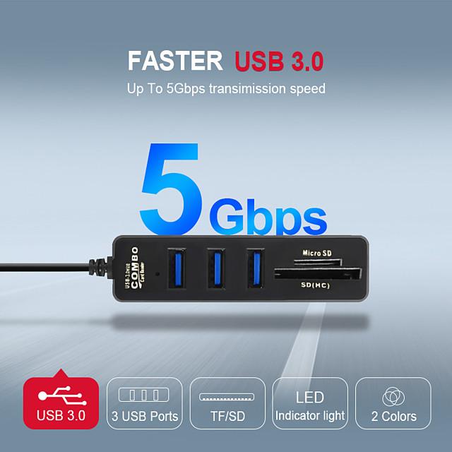 LITBest USB 3.0 à USB 3.0 Concentrateur USB 3 Les ports Pour Windows, PC, ordinateur portable