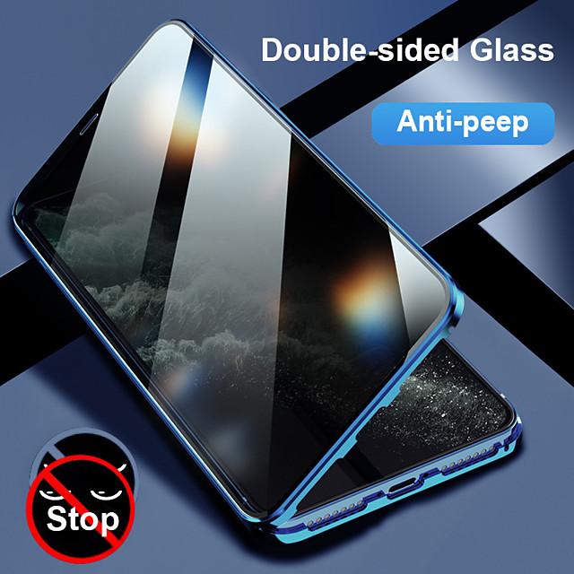 téléphone Coque Pour Apple Coque Intégrale Etui folio iPhone 12 Pro Max 11 SE 2020 X XR XS Max 8 7 6 Antichoc Clapet Transparente Transparente Verre Trempé Métal