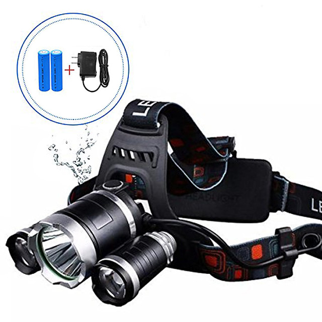 wiederaufladbarer Scheinwerfer, Scheinwerfer Taschenlampe USB wiederaufladbarer Außenscheinwerfer LED Scheinwerfer wiederaufladbarer Scheinwerfer für Erwachsene, Camp, Arbeit - 4 Modi ipx4 und