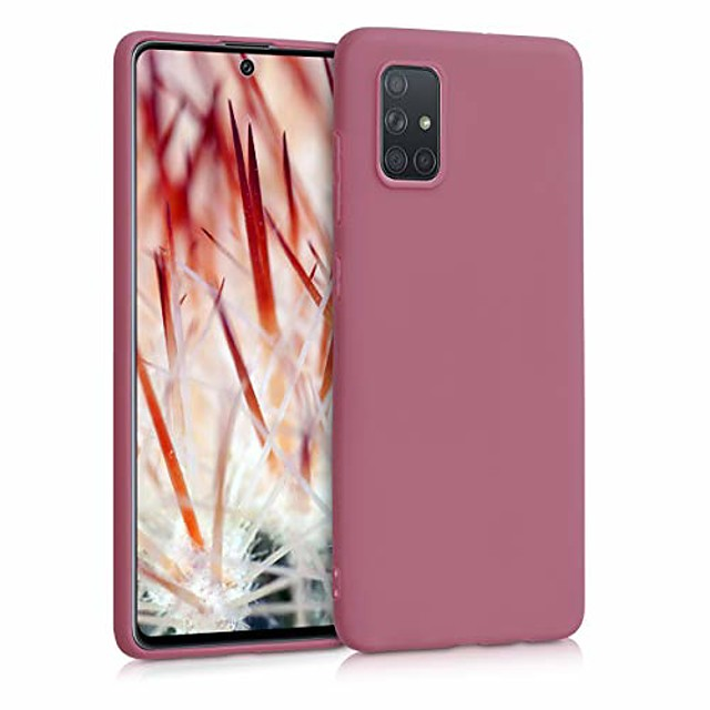 coque compatible avec samsung galaxy a71 - coque de téléphone portable - coque de téléphone portable en rose rouillé profond