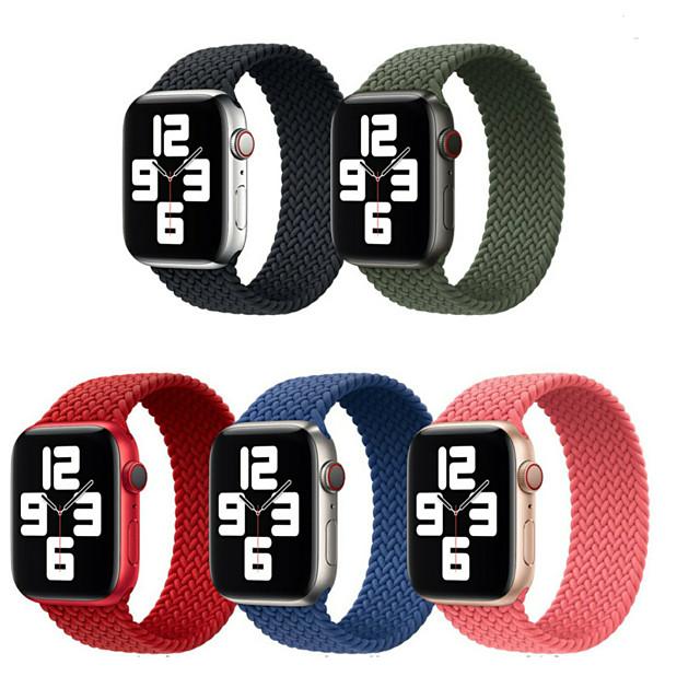 Cinturino intelligente per Apple  iWatch 1 pcs Cinturino sportivo Tessuto Nylon Sostituzione Custodia con cinturino a strappo per Apple Watch Serie 6 / SE / 5/4 44 mm Apple Watch Serie  3/2/1 42 mm