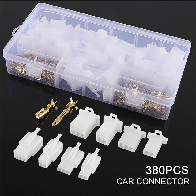 380 pièces connecteur de borne de fil automatique connecteur de 2,8 mm bornes mâles femelles boîtier 2 3 4 6 pour bateau voiture motos voiture bateau