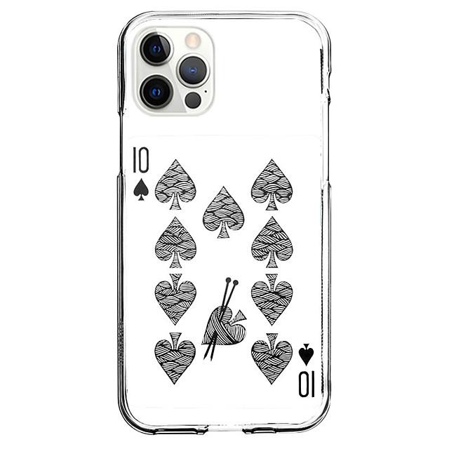 Poker Geval Voor appel iPhone 12 iPhone 11 iPhone 12 Pro Max Uniek ontwerp Beschermende hoes en schermbeschermer Schokbestendig Achterkant TPU