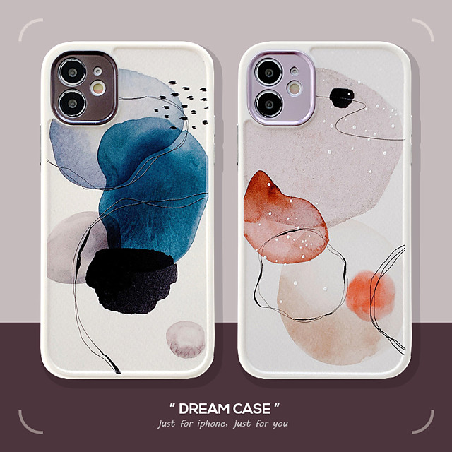 Phone Case For Apple Back Cover iPhone 12 Pro Max 11 SE 2020 X XR XS Max 8 7 Shockproof Geometric Pattern TPU