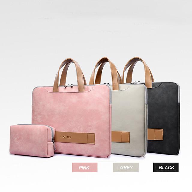 13.3 14 15.6 pochette d'ordinateur portable étanche en cuir PU pour femmes sac d'ordinateur portable sac à main antichoc souple comprend un sac d'alimentation