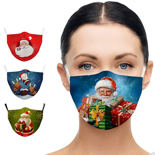 noël père noël bonhomme de neige hiver impression numérique masque lavable enfants adultes