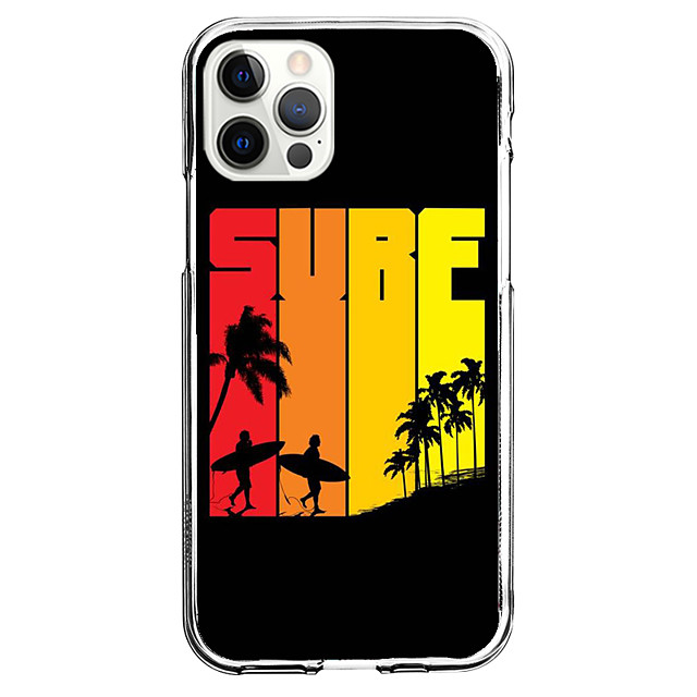 Multi Color Coastal Case For Apple iPhone 12 iPhone 11 iPhone 12 Pro Max Unique Design Protective Case Shockproof Back Cover TPU