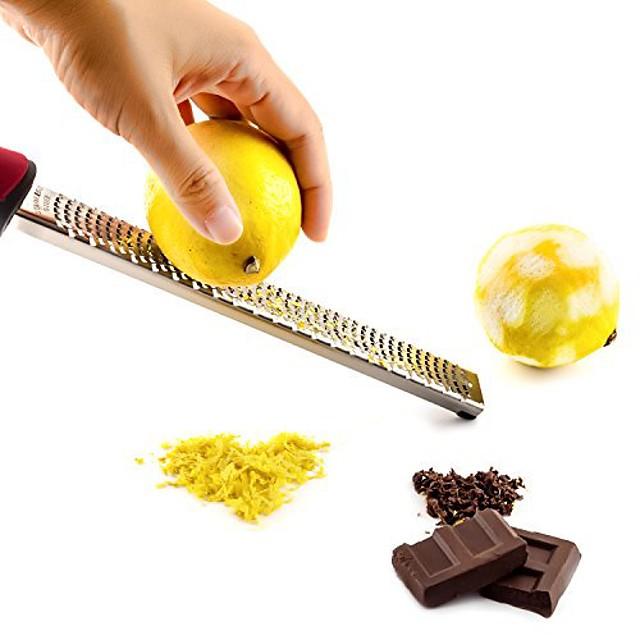 ost sjokolade sitron rivjern frukt zester skarp holdbar skrape rustfritt stål kjøkkenverktøy sett