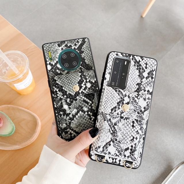 téléphone Coque Pour Huawei Coque Arriere Étui en cuir HUAWEI P40 HUAWEI P40 Pro Huawei P30 Huawei P30 Pro Huawei P30 Lite Compagnon 30 Mate 30 Pro Antichoc Lignes / Vagues faux cuir