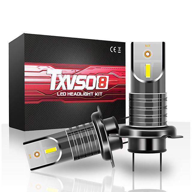 Txvso8 2pcs h7 55w 26000lm voiture led phares ampoule antibrouillard ip68 étanche 6000k blanc