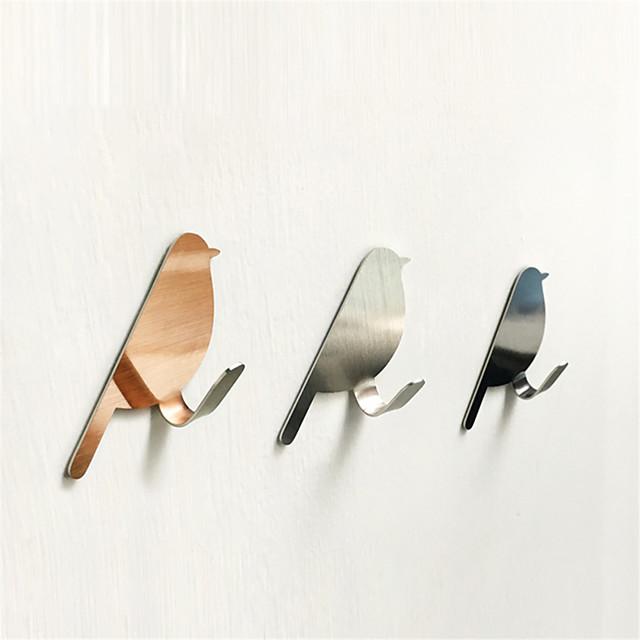 Stainless steel Bath Hooks / Kitchen Hooks / Wall Hooks Round Cute / New Design Home Organization Storage 2pcs