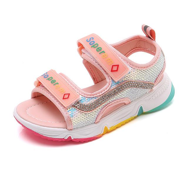للفتيات صنادل أحذية الأميرة PU الأطفال الصغار (4-7 سنوات) الأطفال الصغار (7 سنوات +) مناسب للبس اليومي المشي أسود زهري الصيف