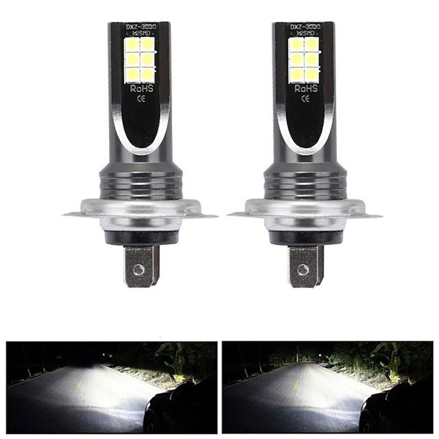 2 stks / set H7 80 w led auto koplamp auto front lamp super heldere witte beam 6000 k 12 v auto modellering mistlamp kit