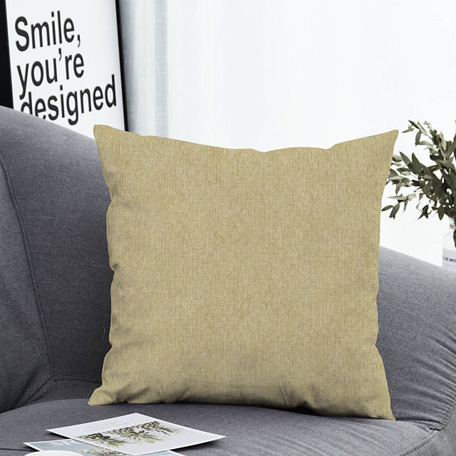 1 pcs Polyester Pillow Cover & Insert Simple Classic Square Zipper Polyester Traditional Classic