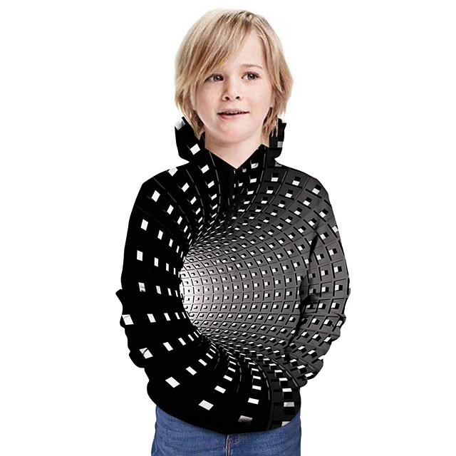 Kinderen Jongens Hoodie en sweatshirt Lange mouw Lapwerk 3D Opdruk Kinderen Nieuwjaar Tops Actief Street chic Regenboog