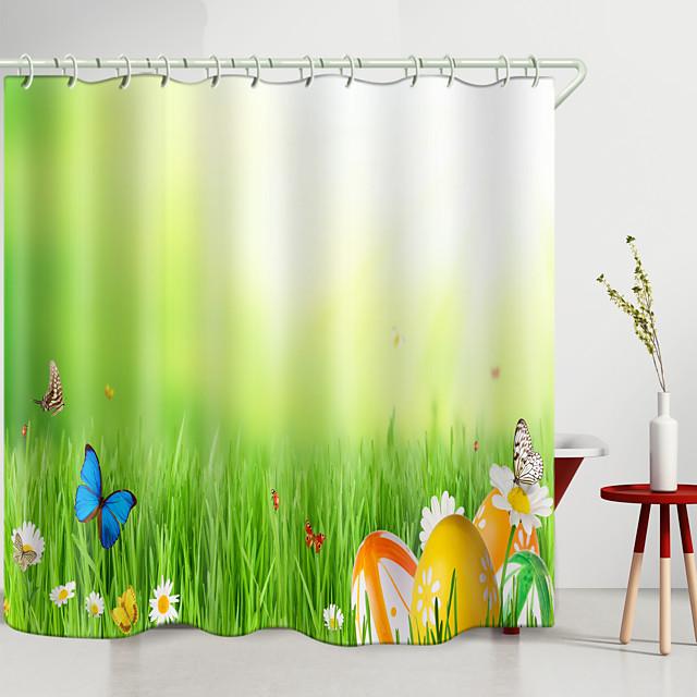 Shower Curtains & Hooks Modern Polyester New Design
