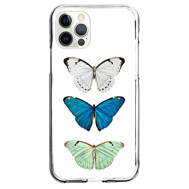 Butterfly Fashion Case For Apple iPhone 12 iPhone 11 iPhone 12 Pro Max Unique Design Protective Case Shockproof Back Cover TPU