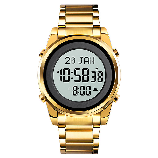 SKMEI Men's Sport Watch Digital Digital Outdoor Calendar / date / day Chronograph Alarm Clock / One Year / Stainless Steel