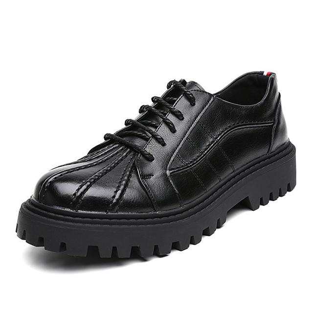 رجالي أوكسفورد مناسب للبس اليومي المشي PU ارتداء إثبات أسود الخريف الربيع