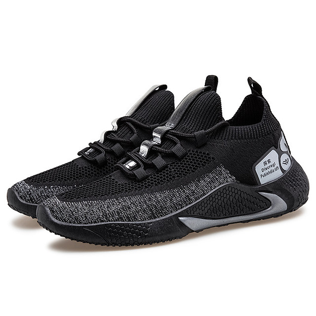 Men's Trainers Athletic Shoes Sporty Casual Athletic Walking Shoes Tissage Volant Black / Red Black / Yellow Black Fall Spring
