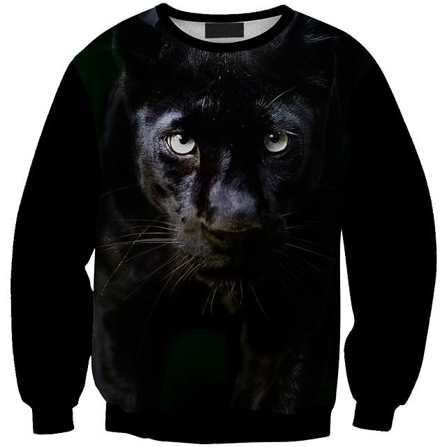 Women's Pullover Sweatshirt Graphic 3D Animal Print Daily 3D Print Basic Casual Hoodies Sweatshirts  White Black Blue