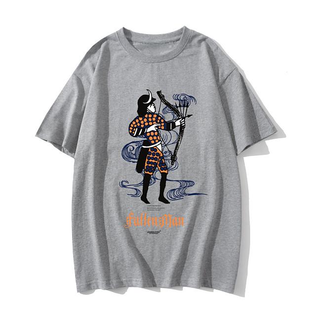 Women's T shirt Graphic Text Print Round Neck Tops 100% Cotton Basic Basic Top White Light gray Dark Gray