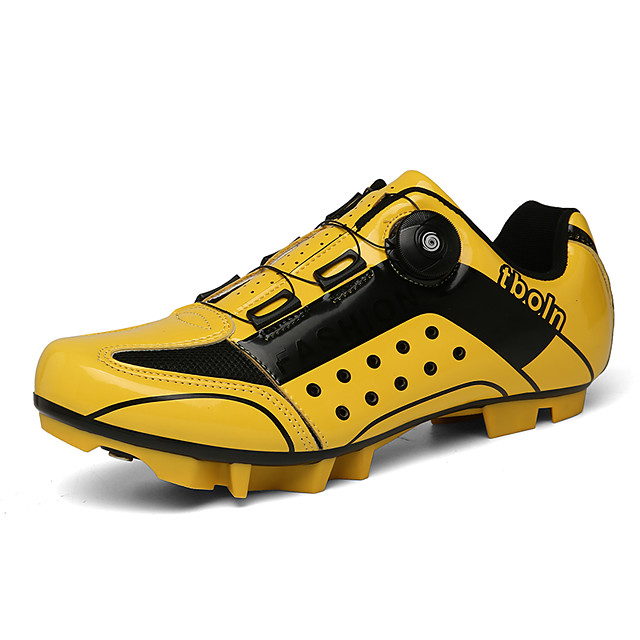 Unisex Trainers Athletic Shoes Outdoor Cycling Shoes Leather Non-slipping Yellow Red Blue Fall Spring