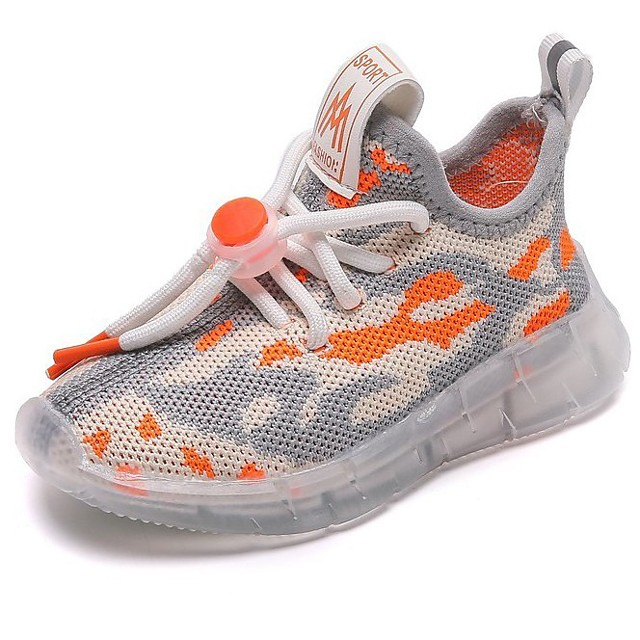 Boys' Girls' Trainers Athletic Shoes Comfort Mesh Little Kids(4-7ys) Daily Walking Shoes Black Orange Fall Spring