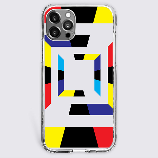 Grid / Plaid Patterns Fashion Case For Apple iPhone 12 iPhone 11 iPhone 12 Pro Max Unique Design Protective Case Shockproof Back Cover TPU
